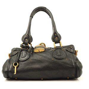 Auth Chloe Paddington Hand Bag Black #6736C87